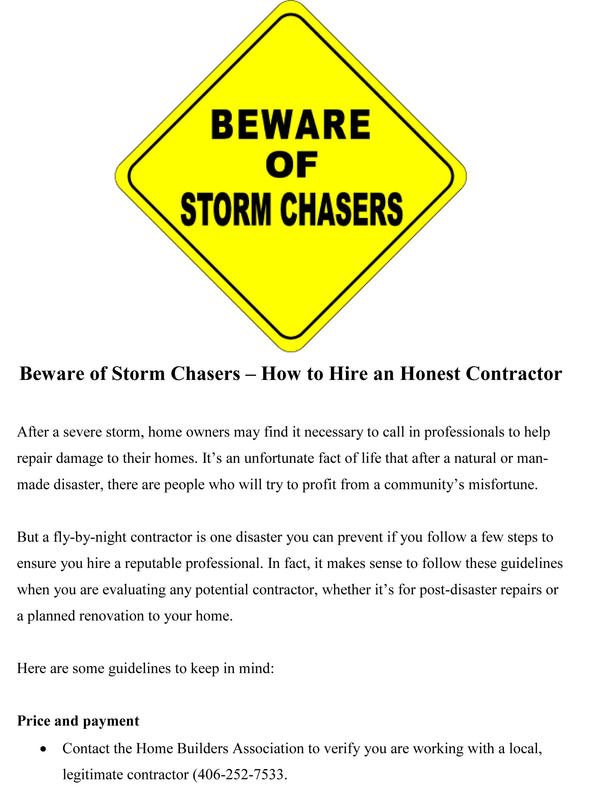 Home Builders Association of Billings, Inc